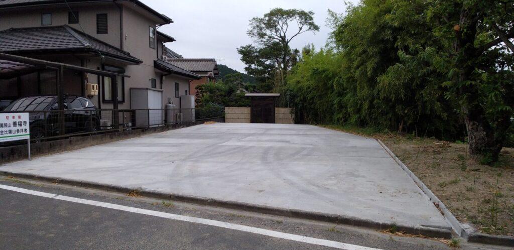 金比羅山駐車場完成